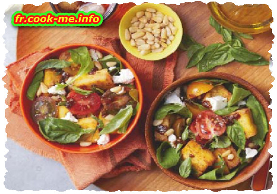 Salade de polenta croustillante et roquette