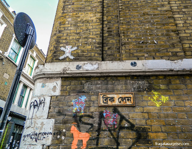 Londres - grafites em Brick Lane
