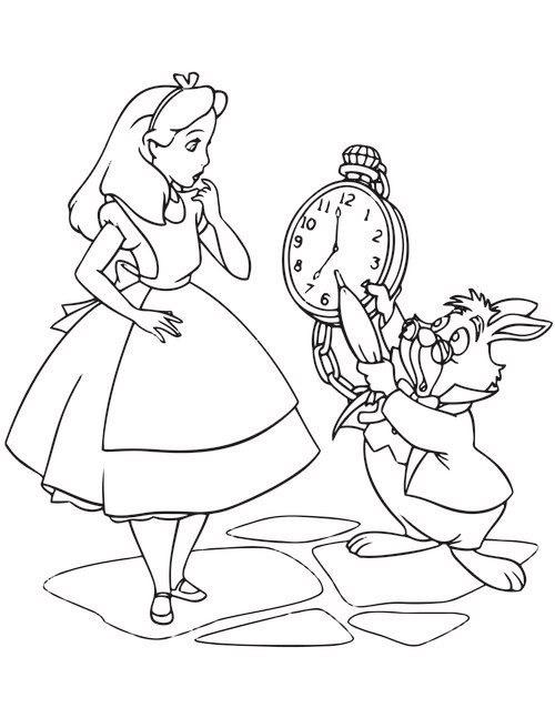 Tranh tô màu Alice ở xứ sở diệu kì