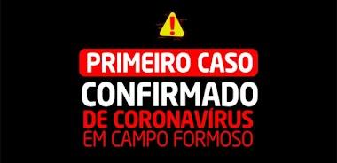 Campo Formoso tem o primeiro caso confirmado da COVID-19