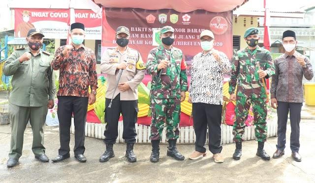 Sambut Hari Juang Kartika, Kodim 0111/Bireuen Gelar Rapid Tes Donor Darah Dan Sunatan Massal