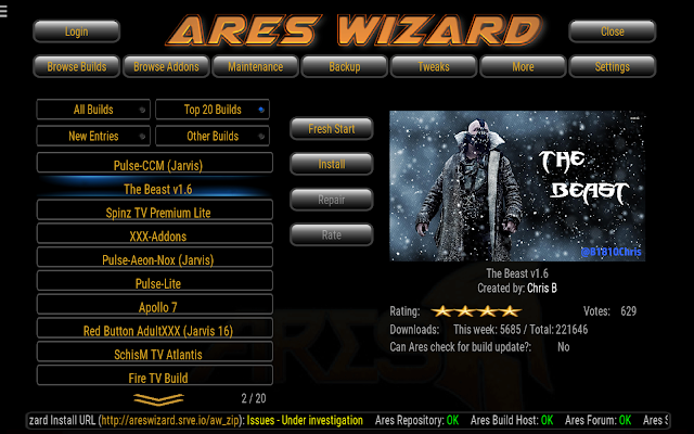 ares wizard the beast 1.6