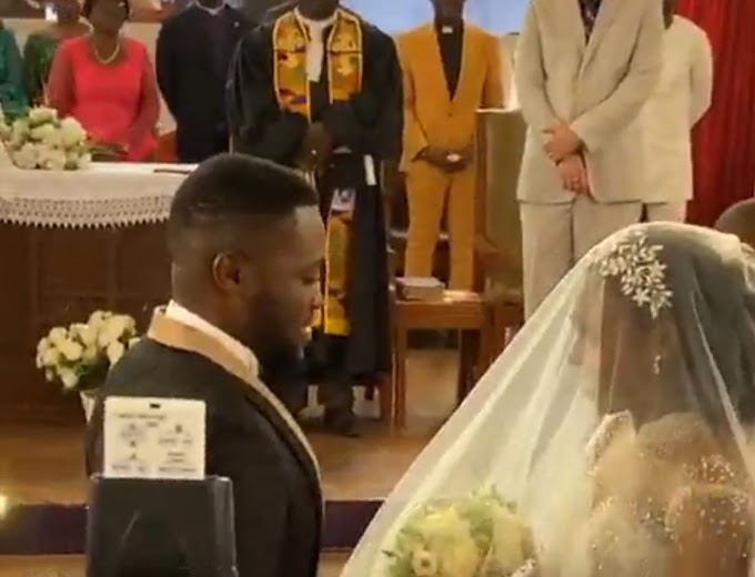 Photos and videos from the white wedding of Kennedy Osei and Tracy