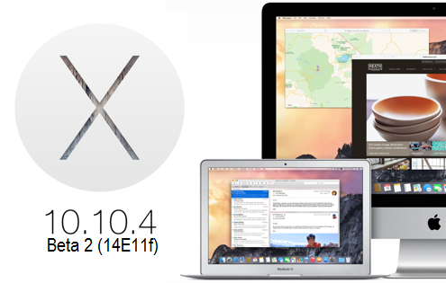 Download OS X Yosemite 10.10.4 (14E11f) Beta 2 Delta, Combo Update .DMG Files - Direct Links