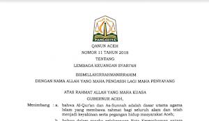 Ini Isi Qanun Lembaga Keuangan Syariah (LKS) yang Diterapkan di Aceh Untuk Lembaga Keuangan