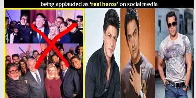 """Tolak Bertemu Gembong Teroris Dunia """"PM Israel"""", Trio """"Khan"""" Bollywood Dipuji Sebagai """"The Real Heroes"""""""