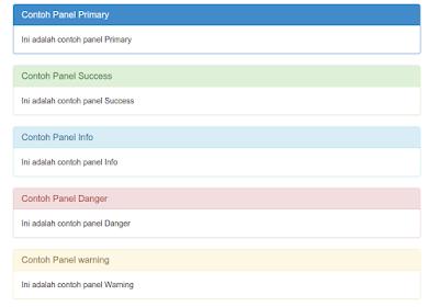 Tutorial panel di Bootstrap 3