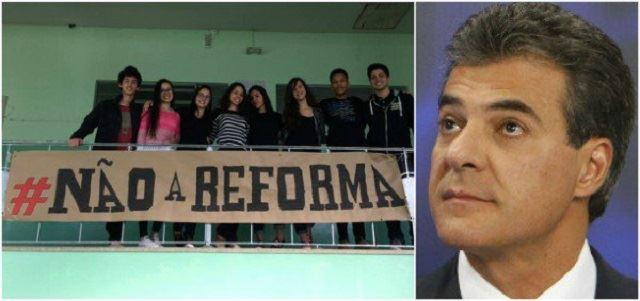 Beto Ricga, governador do Paraná perdeu mais uma batalha contra estudantes do PR. Imagem: Esmael Moraes