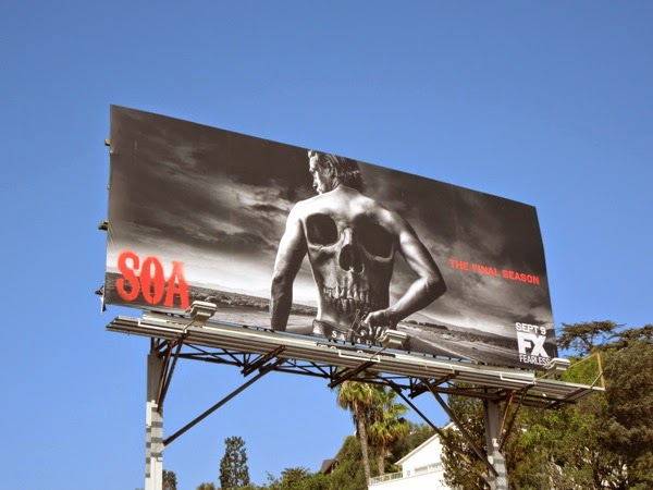Sons of Anarchy season 7 skull back billboard