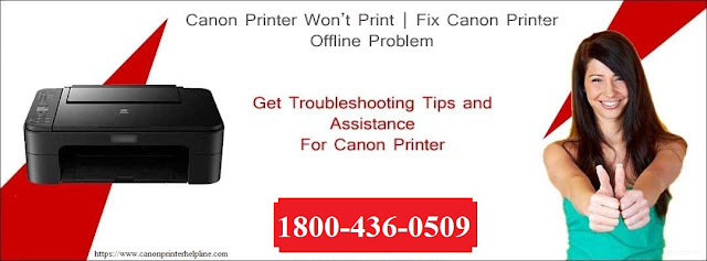 How to Resolve Canon Printer Offline Status issue