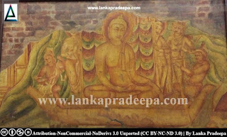 A Thivanka Pilimage painting (replica: Colombo National Museum)