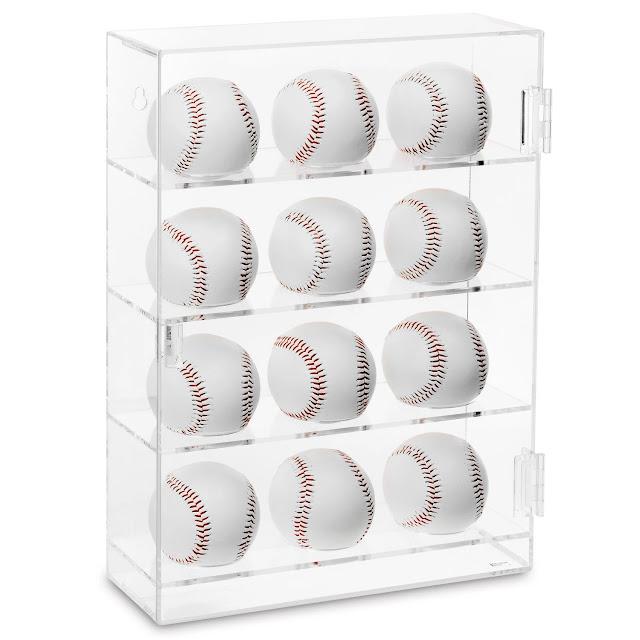 Acrylic Mountable Baseballs Display Cabinet from Nile Corp