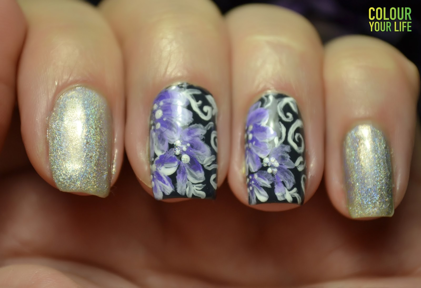 Colour Your Life One Stroke Flower Nail Art