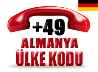 +49 Almanya ülke telefon kodu