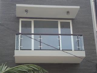 harga railing kaca balkon