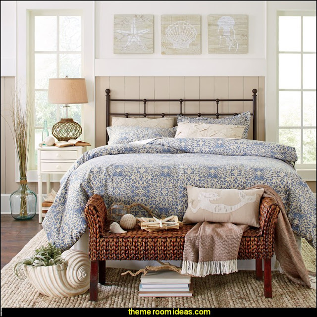 Regis Headboard    seaside cottage decorating ideas - coastal living living room ideas - beach cottage coastal