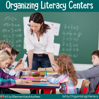 How do you organize your Literacy Centers? This post gives you ideas for organizing what the children do when you're teaching a group. Plus, there's a freebie!