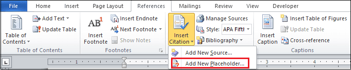 HOW TO INSERT PLACEHOLDER IN AMS WORD