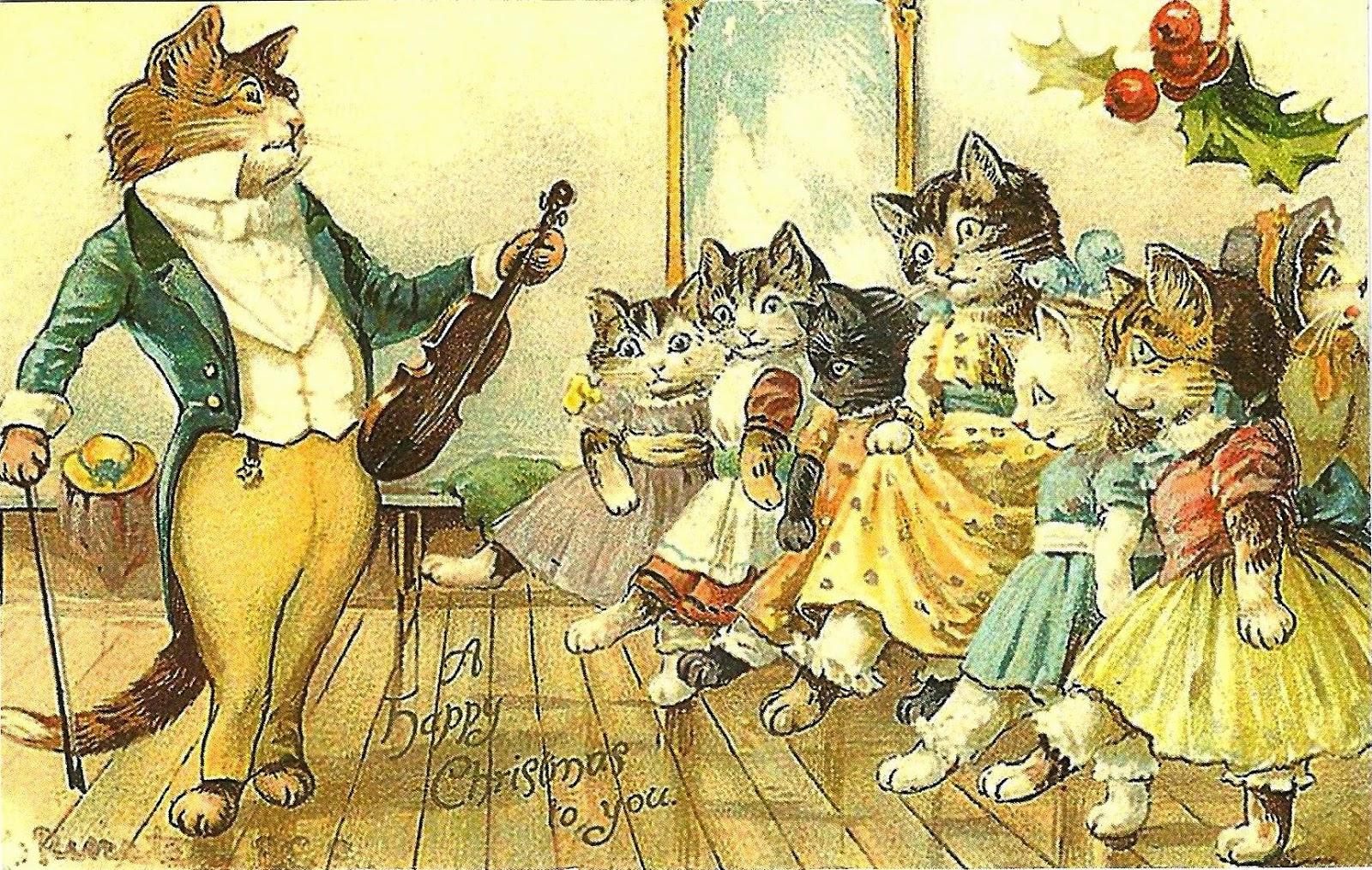 Картинки отдыха, старинные открытки о кошках