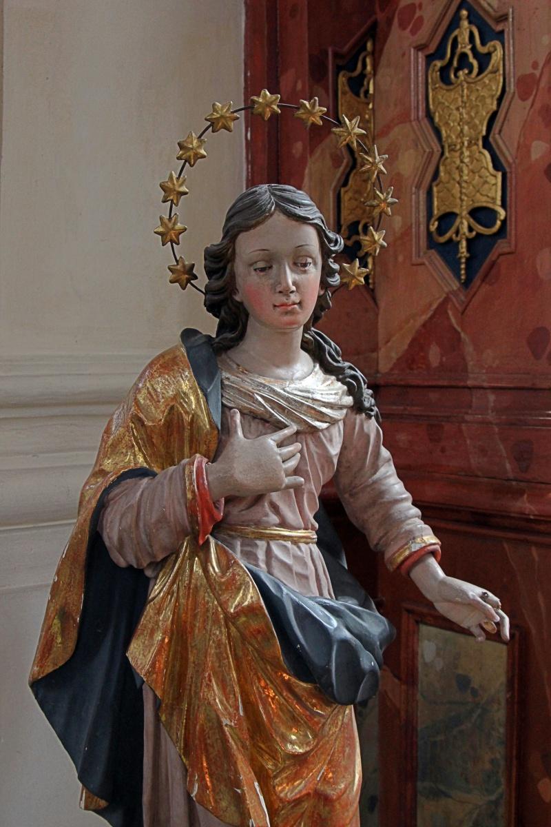 Heiligenfigur in einer Rottweiler Kirche