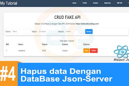 Tutorial CRUD React-Js API #4 : ( Delete ) Hapus data Dengan DataBase Json-Server