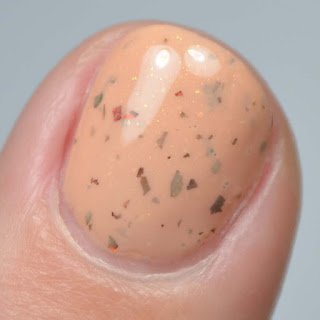 orange nail polish macro