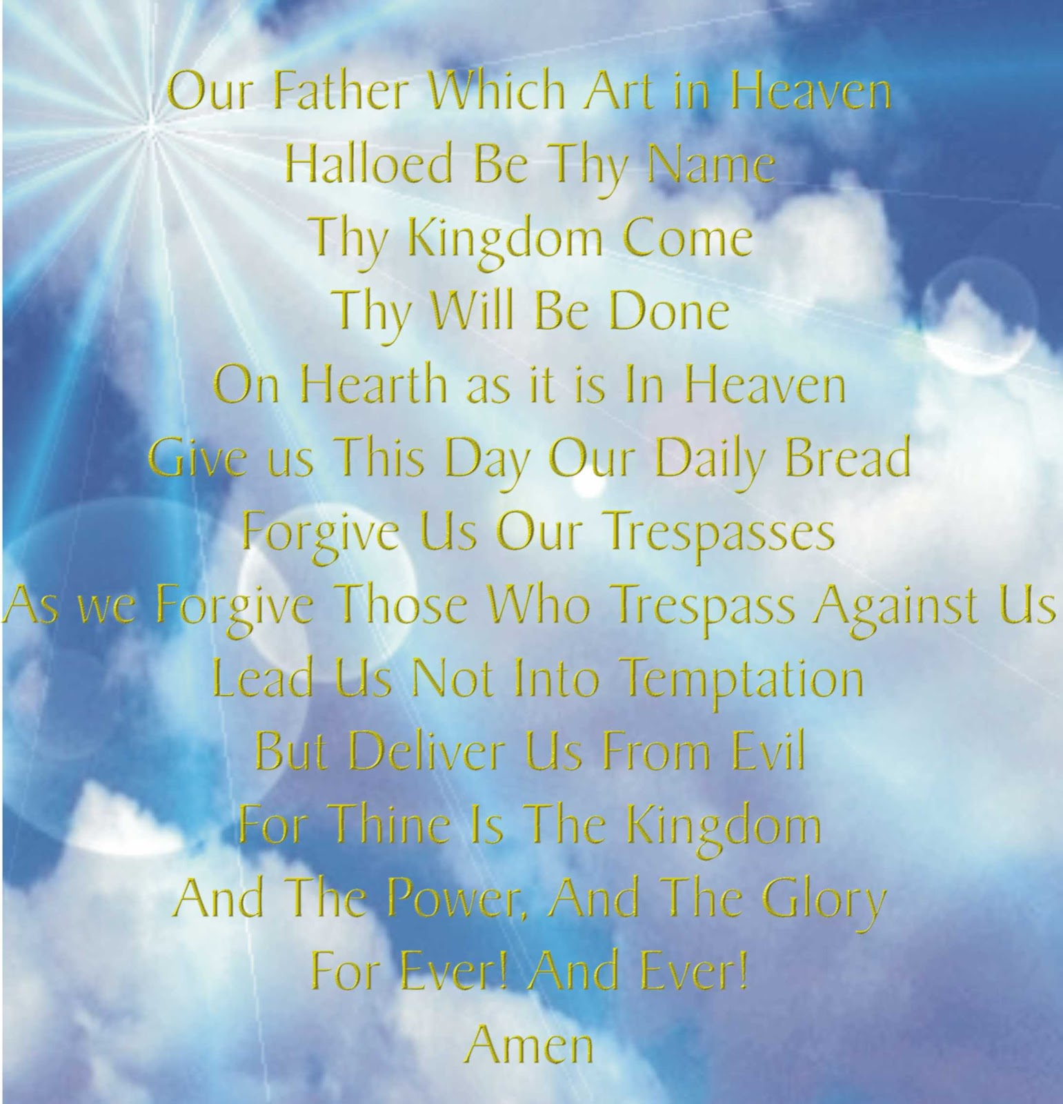 Our Father Wich Art In Heaven Explained