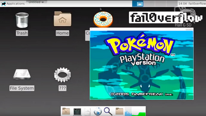 PlayStation 4 hackeado roda Pokemon