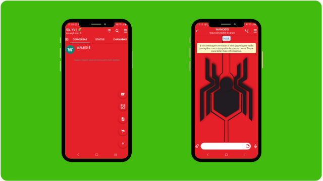 THEME WHATSAPP (GB, YO) - SPIDER MAN LOGO