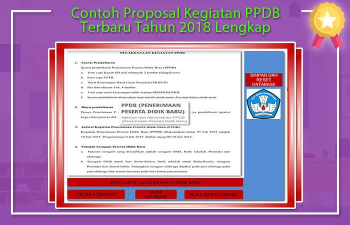 Contoh Proposal Kegiatan PPDB Terbaru Tahun 2018 Lengkap