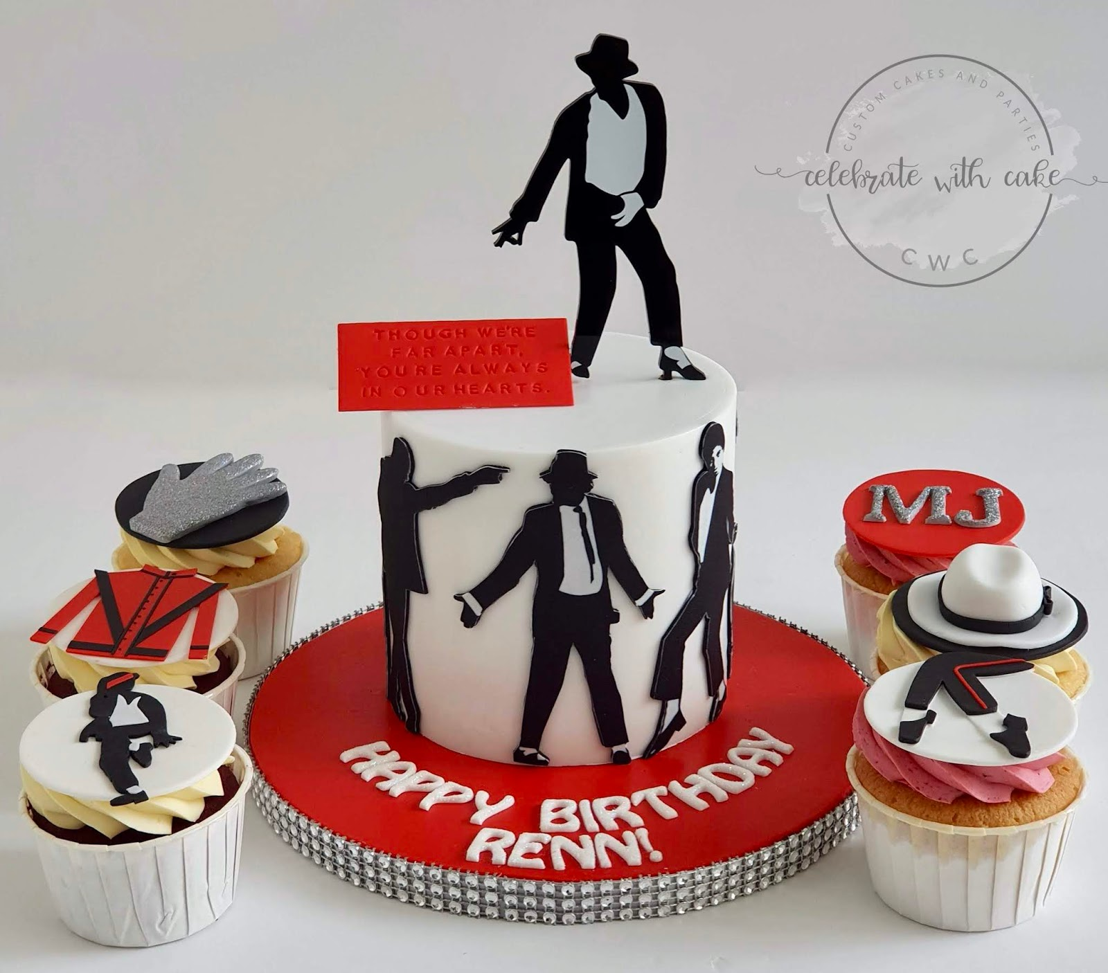 Peachy Celebrate With Cake Michael Jackson Cupcakes And Cake Funny Birthday Cards Online Hetedamsfinfo