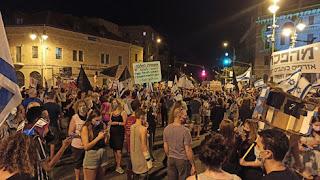 Milhares protestam contra Netanyahu