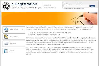 Contoh Pengisian Formulir Pendaftaran STAN 2011