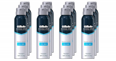 Gillette Invisible Spray Antiperspirant and Deodorant body spray mens