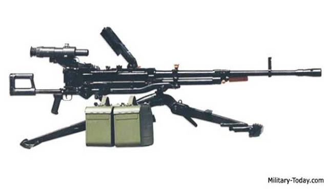 yakni senapan mesin berkekuatan tinggi dengan kaliber besar menyerupai NSV buatan Rusia ata 4 SENAPAN MESIN BERAT TERBAIK DI DUNIA