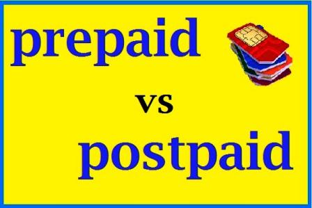 Prepaid and Postpaid Meaning In Hindi