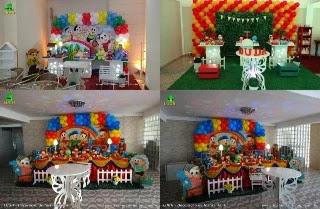 Decoração mesa de aniversário - Festa Turma da Mônica