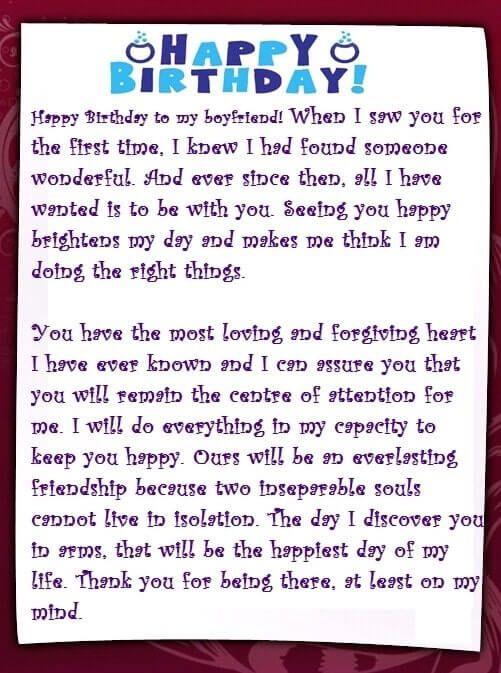 Letter To My Boyfriend On His Birthday : letter, boyfriend, birthday, Emotional, Birthday, Letters, Boyfriend