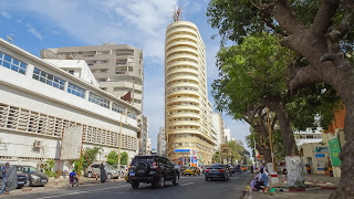 Downtown Dakar Tower has a great view over the ocean