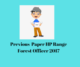 Previous  Paper HP Range Forest Officer 2017