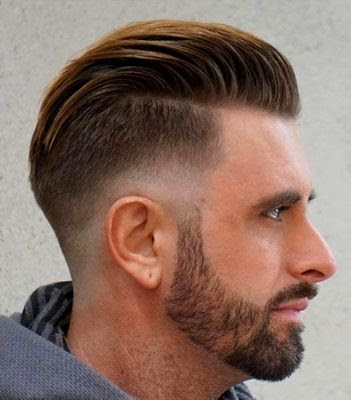35 Modern Haircut For Men in 2020 -  Slicked back waves with the skin fade