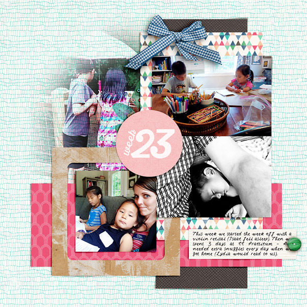 Life Digital Scrapbook Page