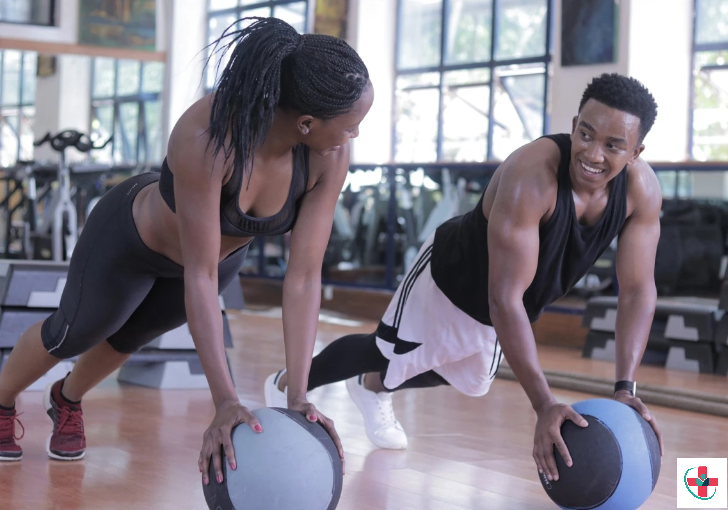 The medicine ball is an all-round fitness accessory.