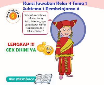 Kunci Jawaban Kelas 4 Tema 1 Subtema 1 Pembelajaran 6 www.simplenews.me