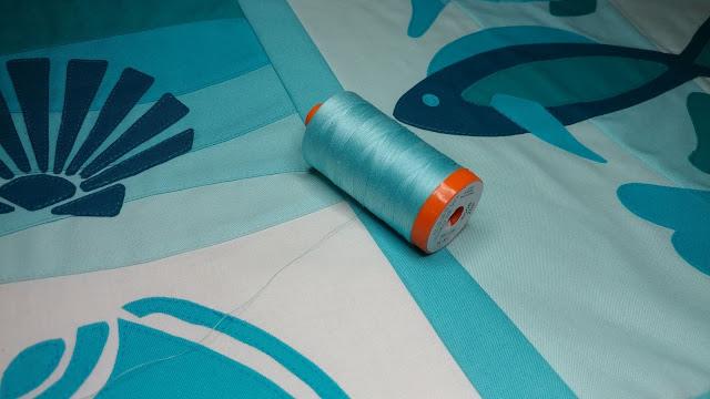 Aurifil 50wt thread for longarm quilting