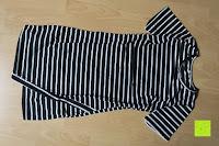 vorne: AIYUE Frauen Monochrom Streifen mit kurzen Hülsen Etuikleid Figurbetontes Kleid Partykleid Clubwear