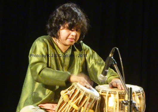 'Tabla performance by Ms. Rimpa Siva at India International Centre, New Delhi' - K.J.S.Chatrath