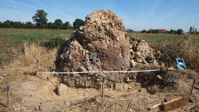 Neolithic menhir discovered in north-western France