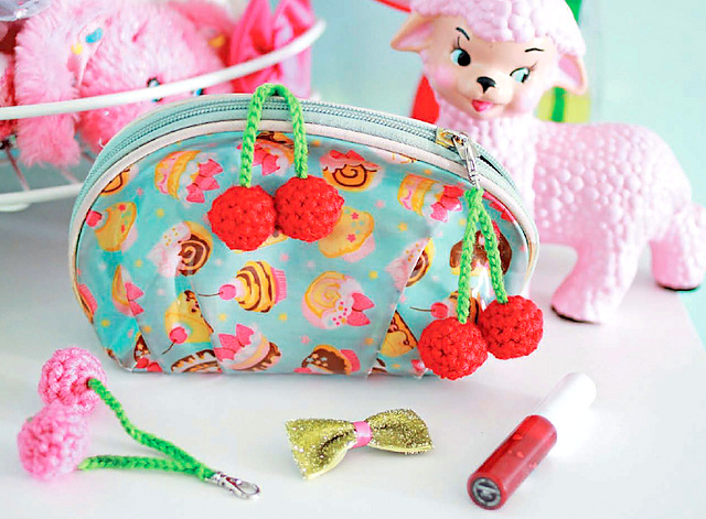 Little Cherry Zipper Pulls crochet pattern