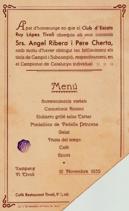 Anverso del ticket de invitación